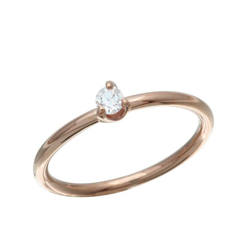 Single Diamond Midi Ring