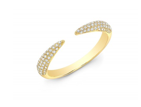Pave Diamond Open Tapered Ring
