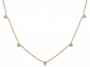 Pave Diamond Heart Chain