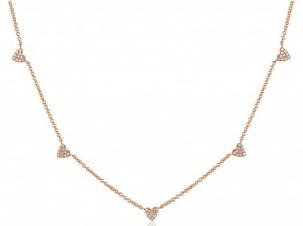 Pave Diamond Heart Chain