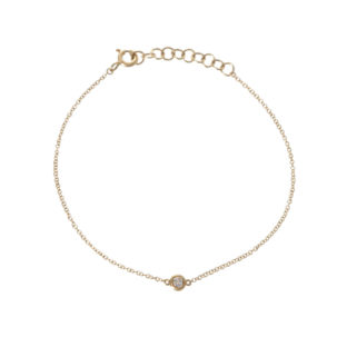 Single Bezel Diamond Bracelet in Yellow Gold from Moondance Jewelry