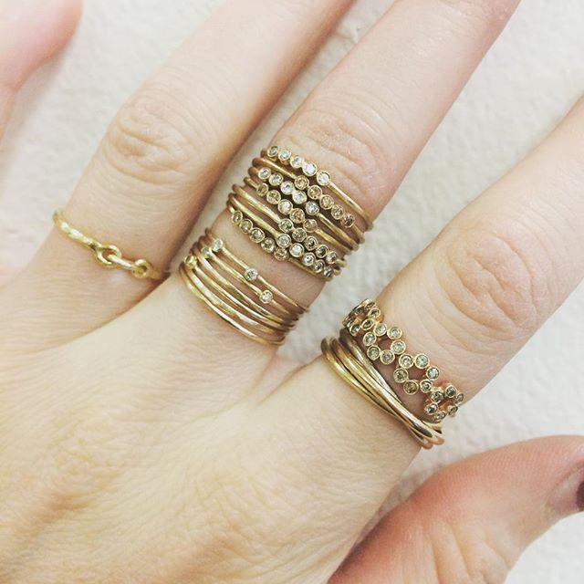 Two Diamond Orbit Ring