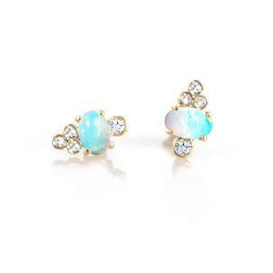 Opal & Diamond Sundae Studs
