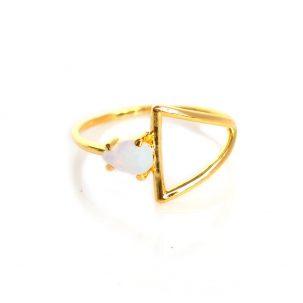Opal Stirrup Ring