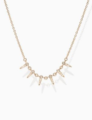Pave Diamond Point Necklace