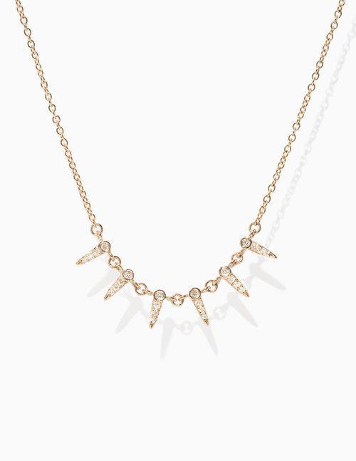 Pave Diamond Point Necklace