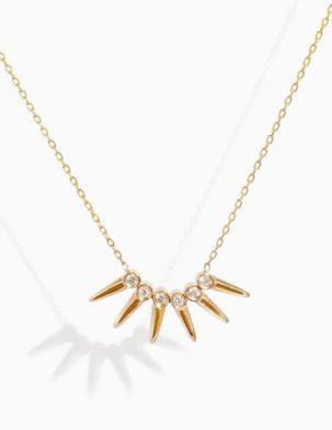 Diamond Star Point Necklace