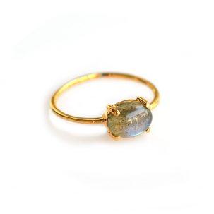 Labradorite Solo Claw Ring