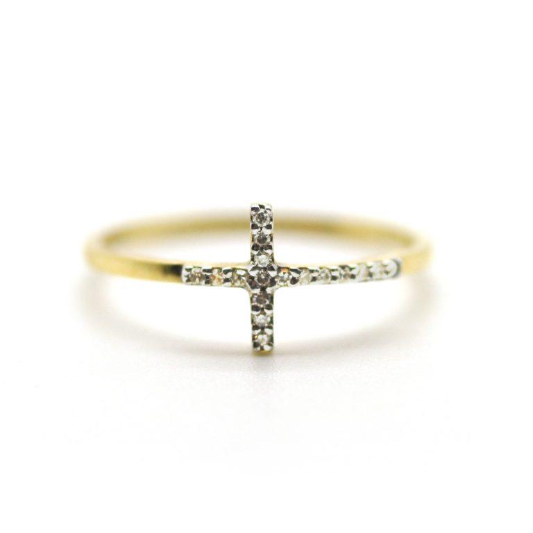 Pave Diamond Cross Ring