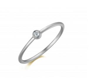 Petite Diamond Bezel Ring
