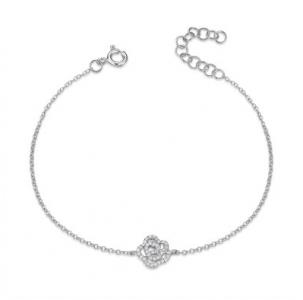 Pave Diamond Rose Bracelet