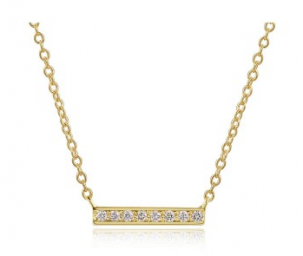 Short Pave Bar Necklace