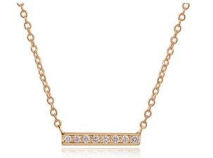 Short Pave Bar Necklace