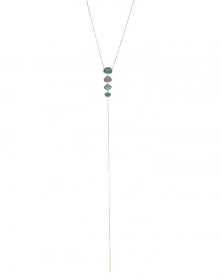 Opal and Pave Lariat