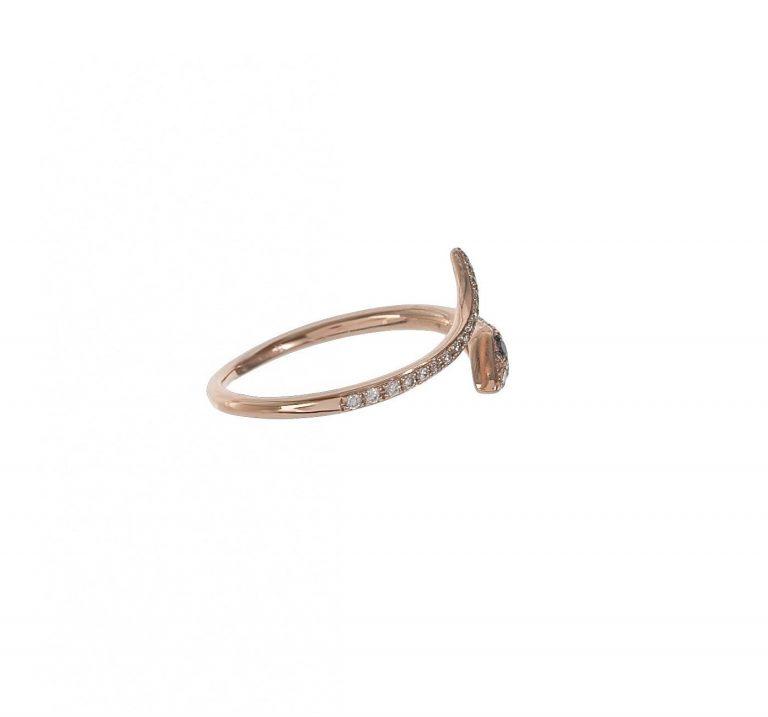 Pave Snake Ring
