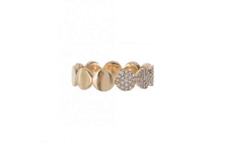 PAVE DISC ETERNITY RING