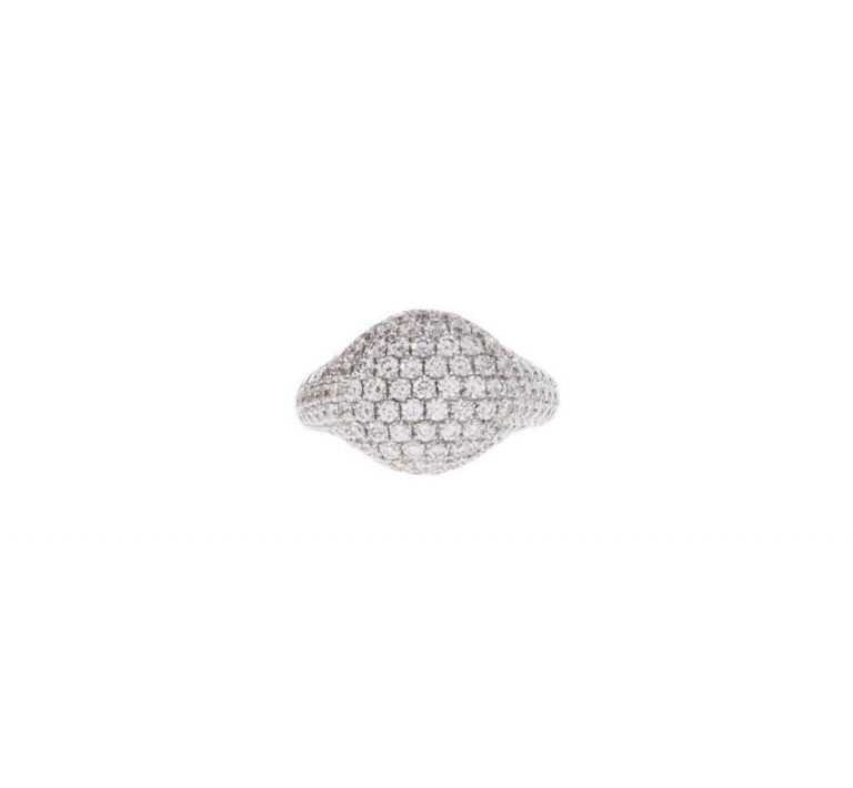 Pave Diamond Signet Ring