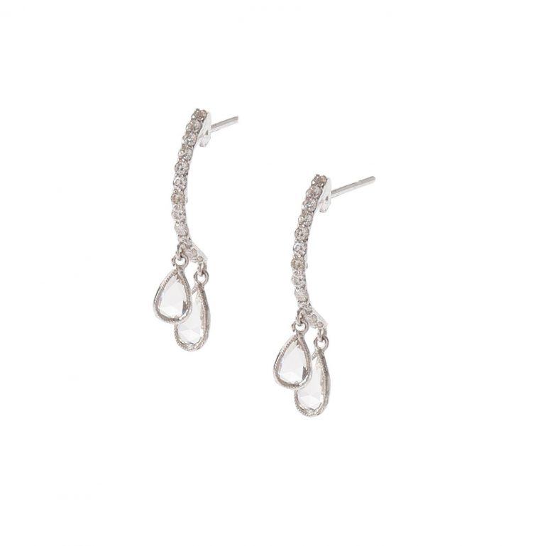 Pear Dangle Curve Earrings