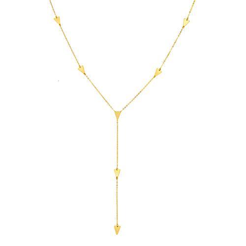 Triangle Arrows Y Necklace