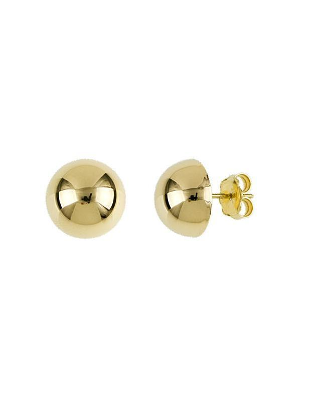 Gold Button Studs