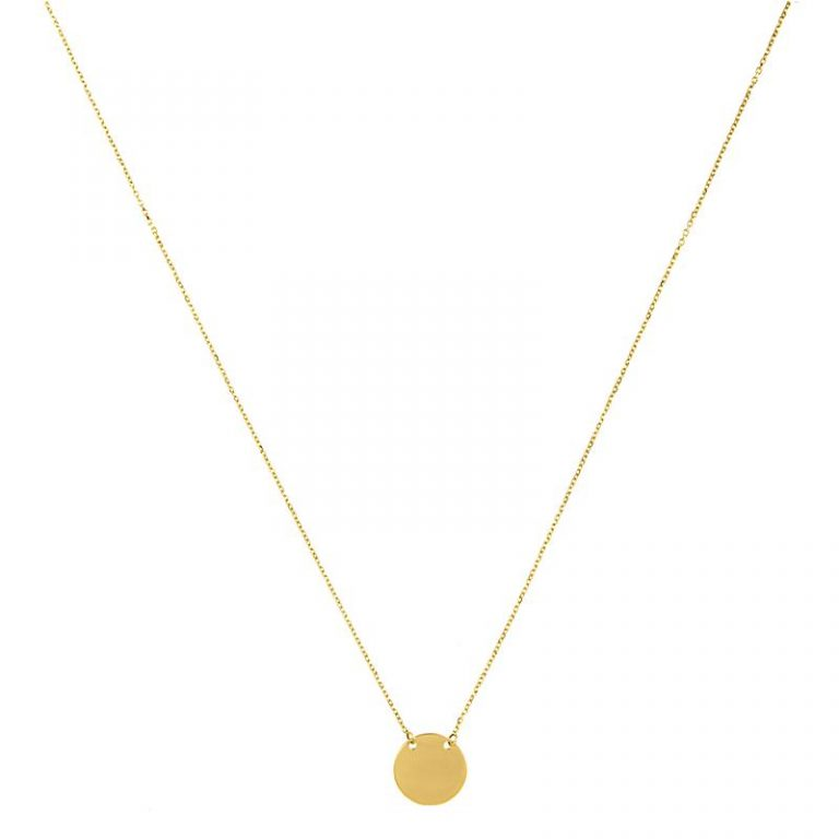 Simple Round Disc Necklace