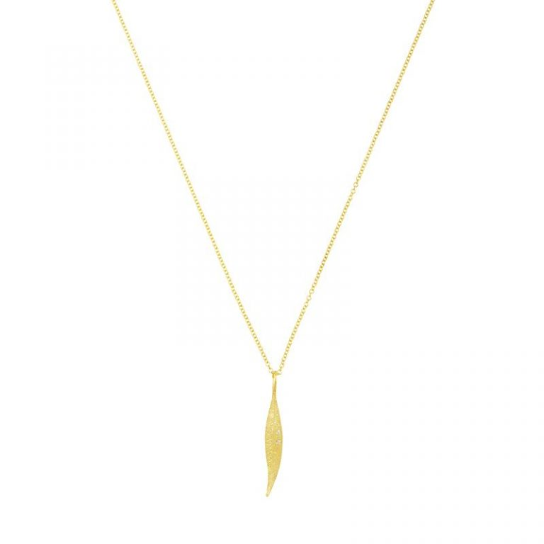 Gold Leaf & Diamond Necklace