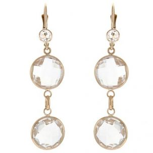Double Crystal Quartz Drop Earrings