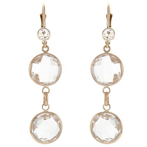 Double Crystal Quartz Drop Earrings