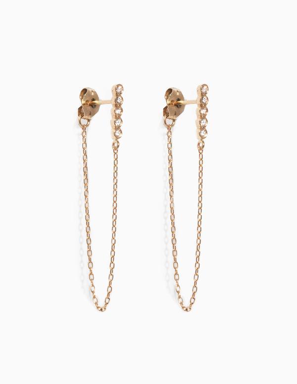 5 Diamond & Chain Earrings