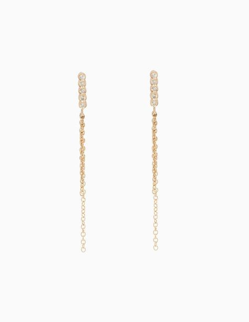 5 Diamond & Fringe Earrings