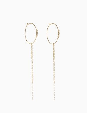 5 Diamond Hoops with Fringe