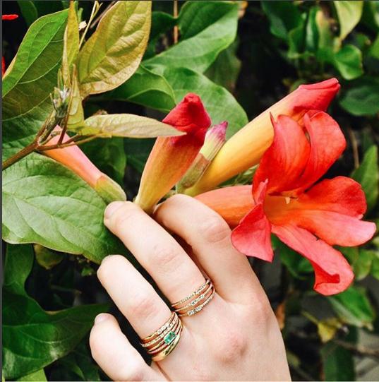 Emerald Octagon Ring