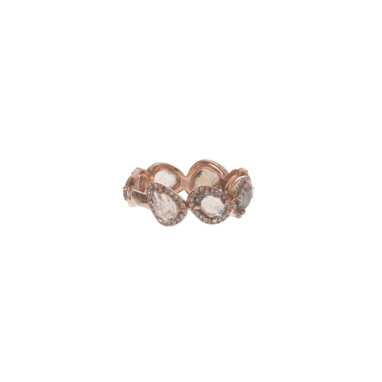 Labradorite & Pave Eternity Ring