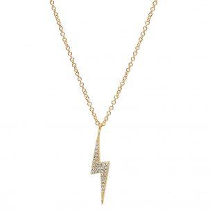 Pave Lightning Necklace