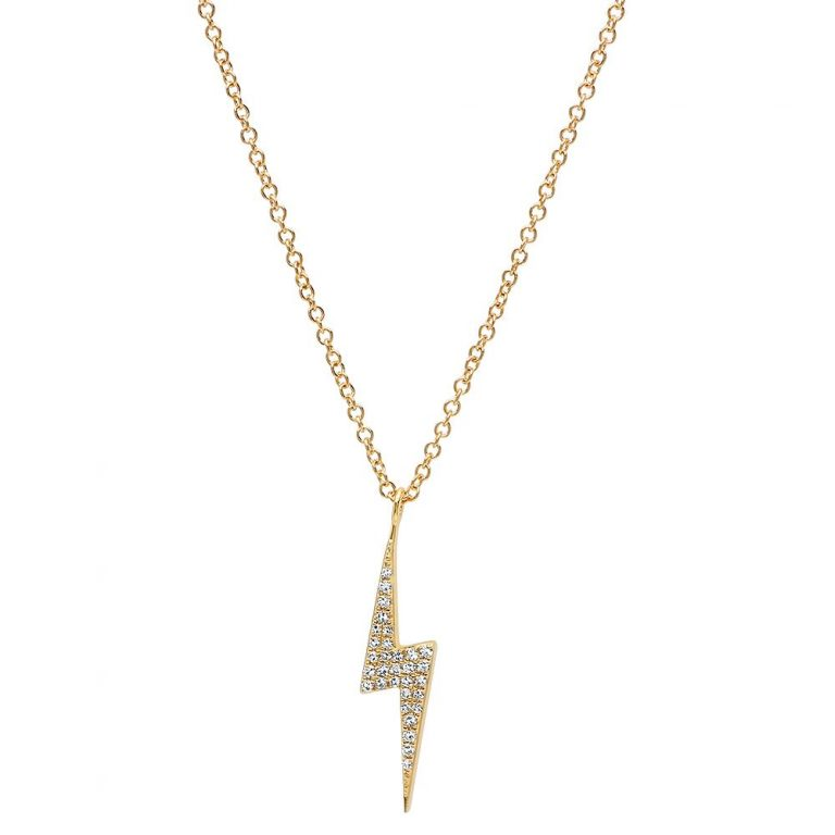 Pave Lightning Necklace