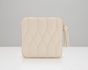 Ivory Zip Travel Case