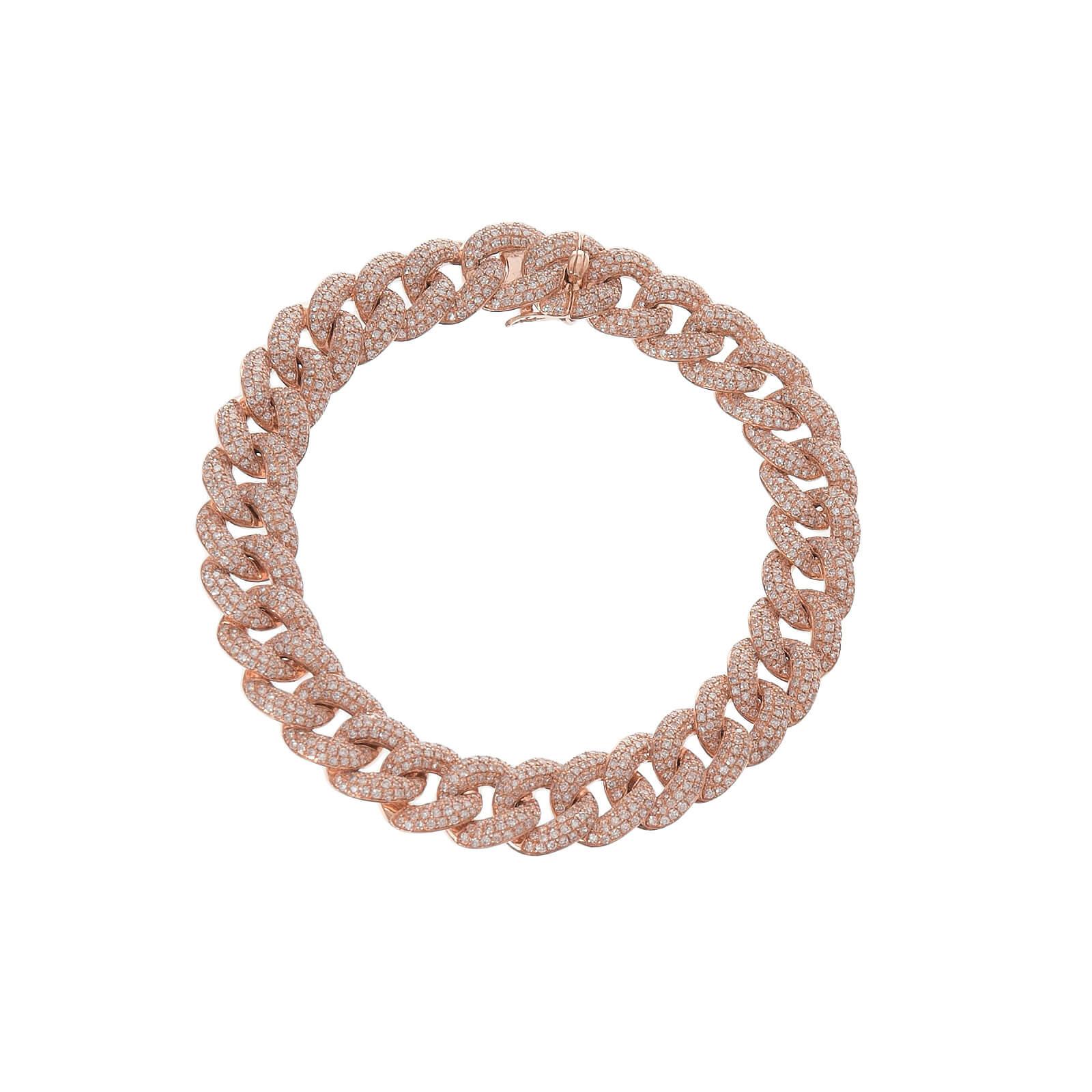 Lg Pave Diamond Chain Link Bracelet
