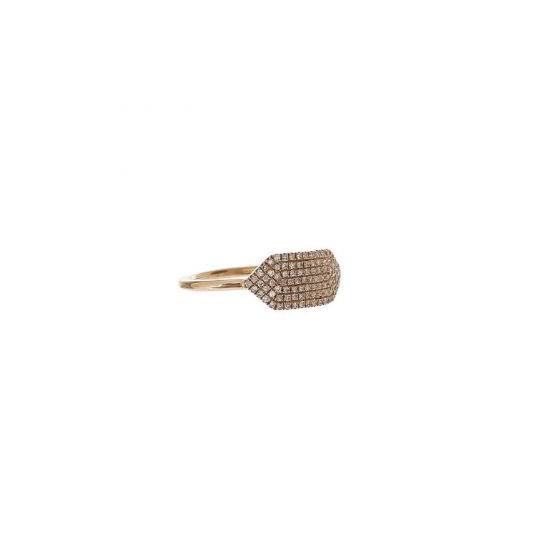 Pave Diamond Shield Ring