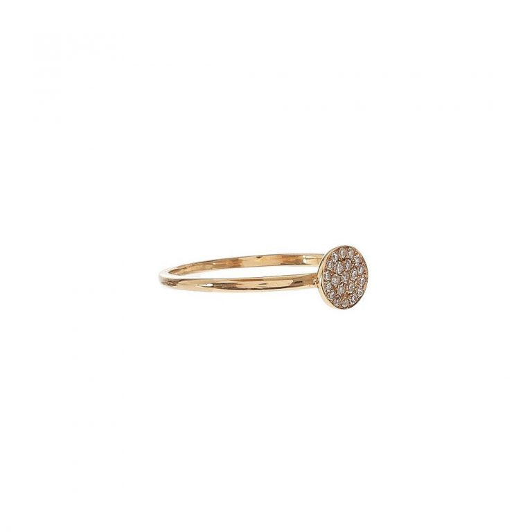 Pave Diamond Disc Ring