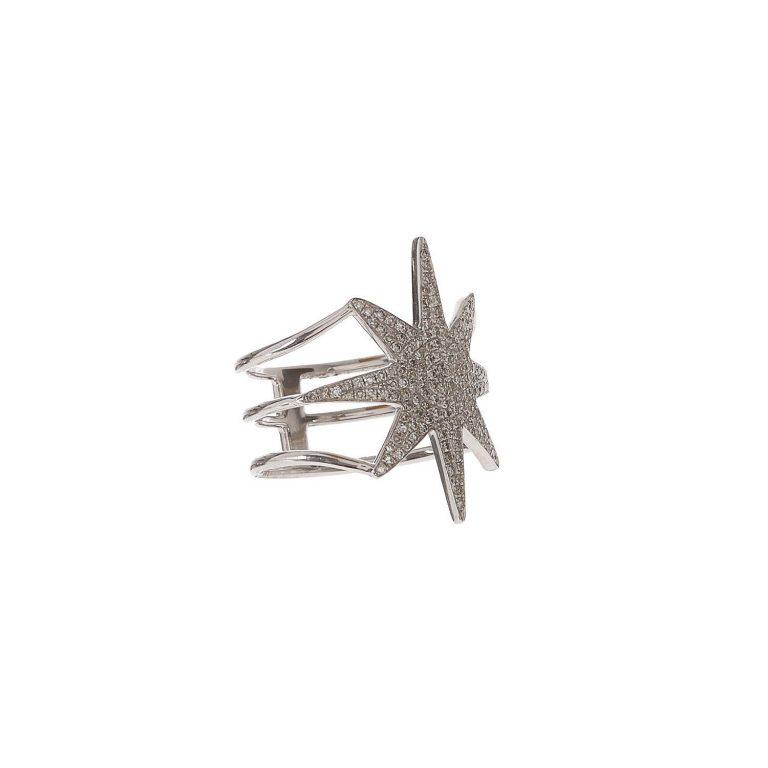 Pave Diamond Starburst Ring