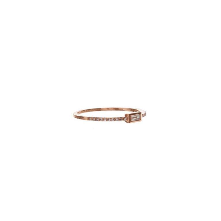 Baguette & Pave Diamond Ring