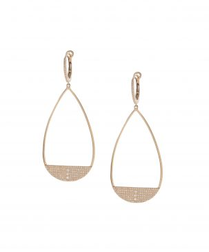 Teardrop Cutout Sparkle Earrings