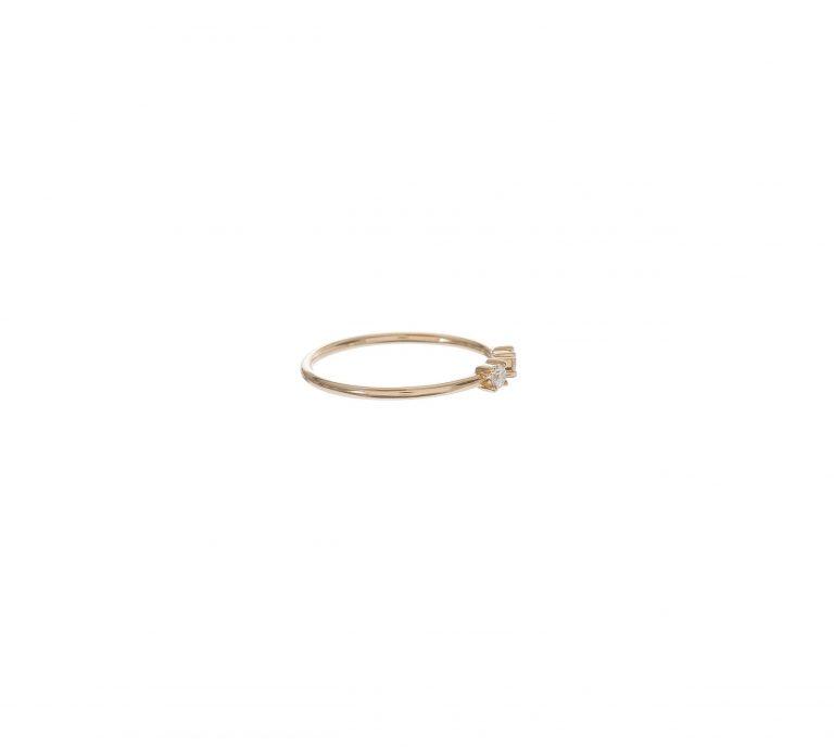 Double Diamond Split Ring