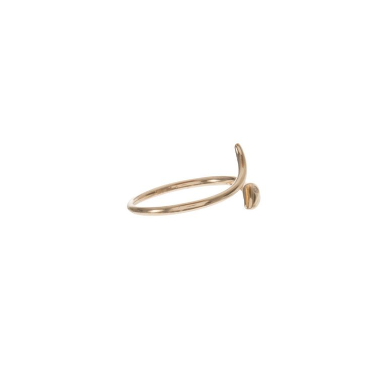 Gold & Diamond Snake Ring