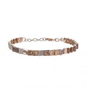 Layered Square Hinge Bracelet