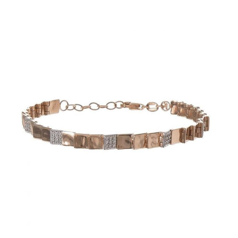 Layered Square Hinge Bracelet