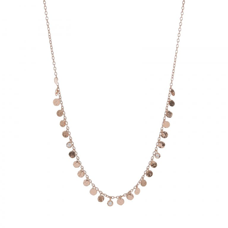 Circle Fringe With Diamonds Necklace