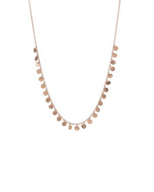 Seed Dot Fringe Necklace