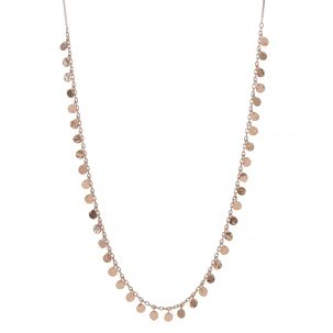 Small Seed Dot Fringe Necklace