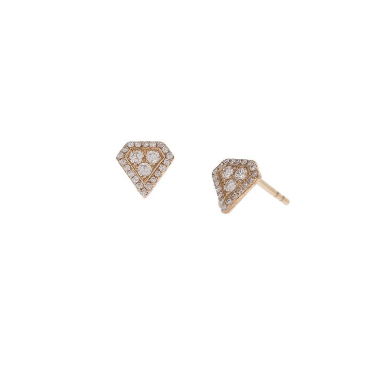 Diamond Gemstone Studs